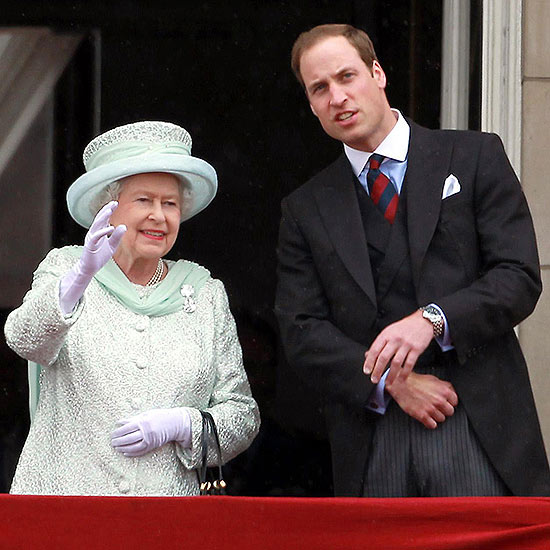 Prince William With Queen Elizabeth