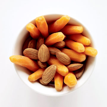 almonds and carrots