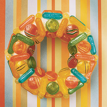 penny candy wreath