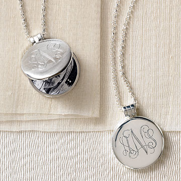 Monogrammable Signet Locket Necklace