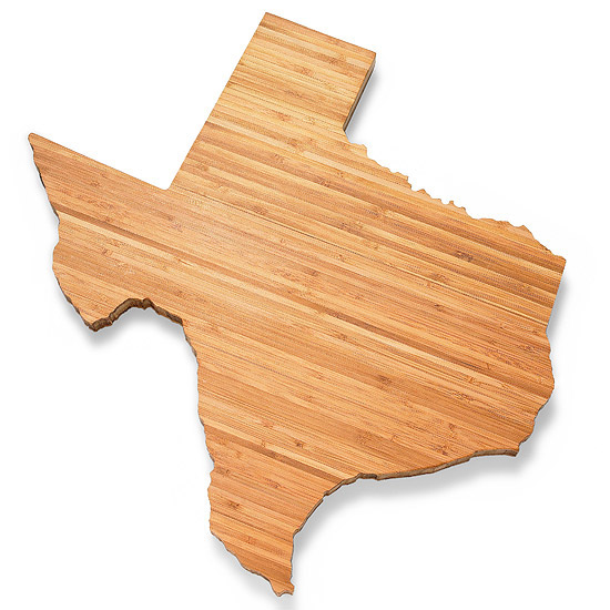 Texas State shape cutting board