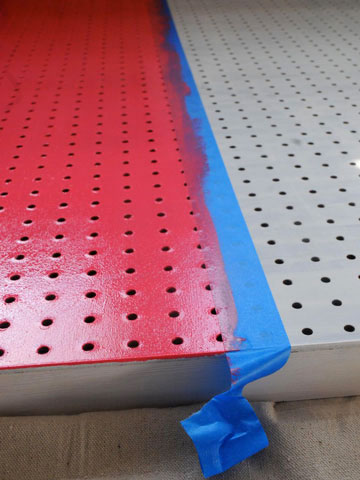 Paint pegboard