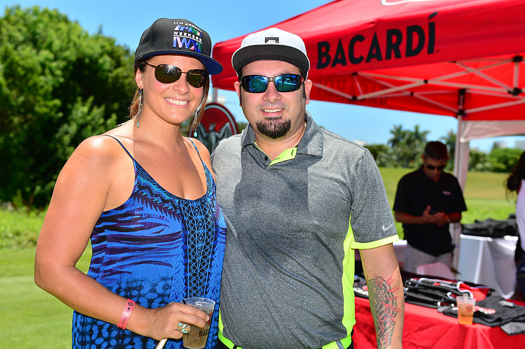 Chris Kirkpatrick and wife Karly golf 2015