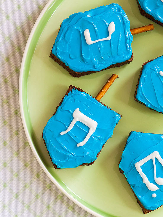 Dreidel brownies