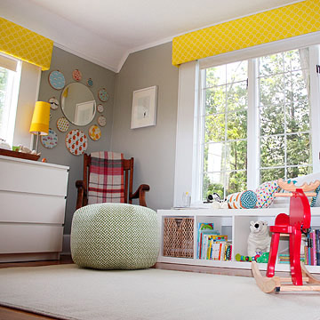 Amy and Andy Bethune's White and Turquoise Nursery for Baby Graham