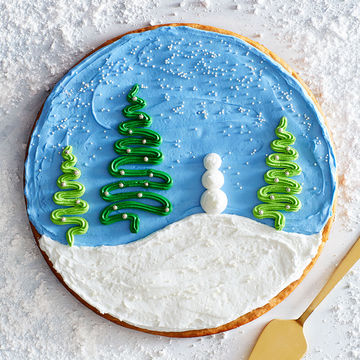 Winter Dream Scene Cookie Cake