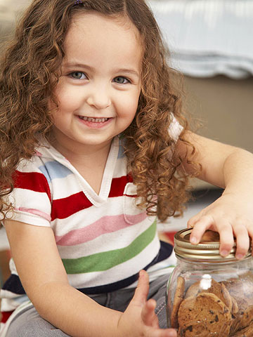 girl with cookie jar