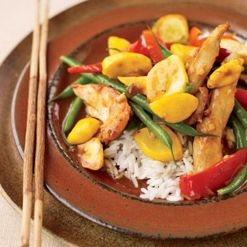 Sesame-Ginger Chicken and Vegetable Stir-Fry