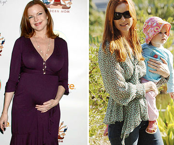 Marcia Cross before and after pregnancy