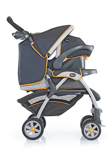 Chicco Cortina, orange and blue, Travel System