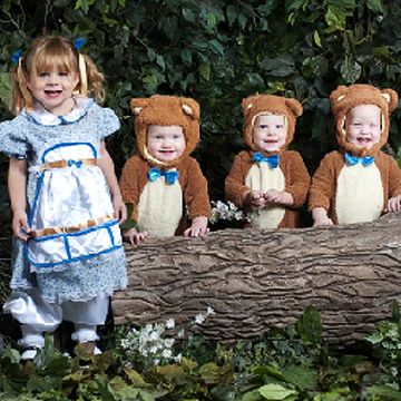 Goldie and Three Bears Halloween costume