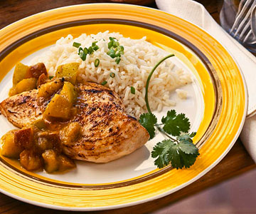 Curried Fruited Chicken Breast