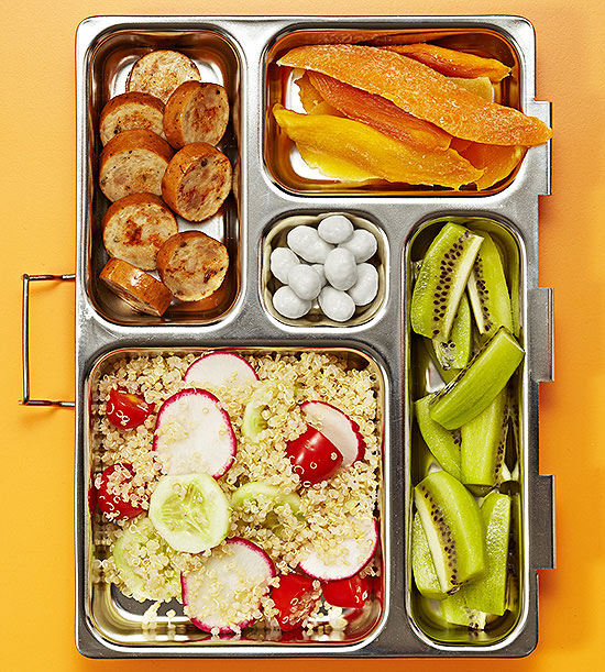 Quinoa salad bento box lunch
