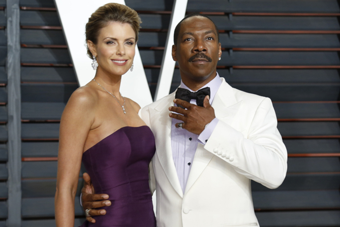 Eddie Murphy at Awards Show in White Tux
