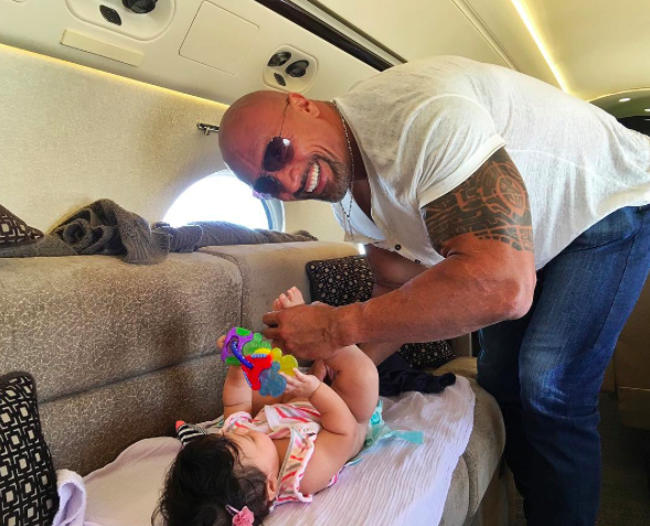 the rock changing diaper