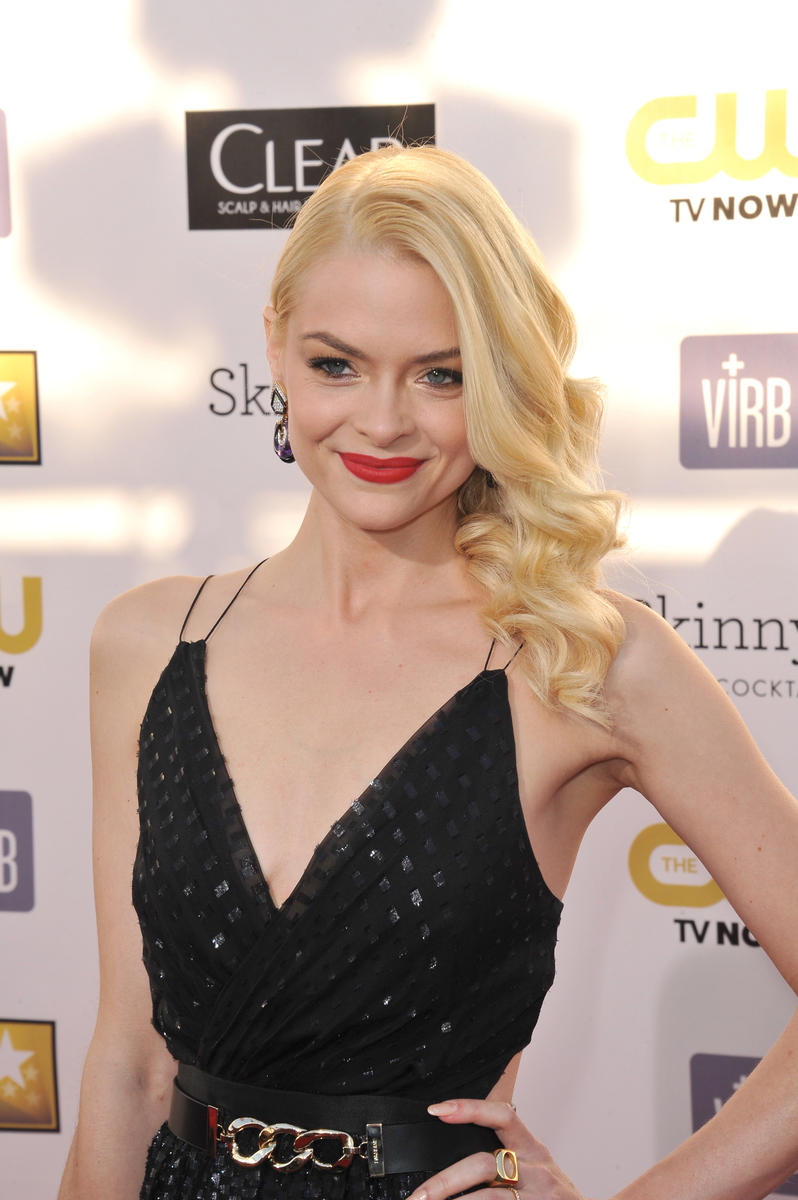 Jaime King in black dress