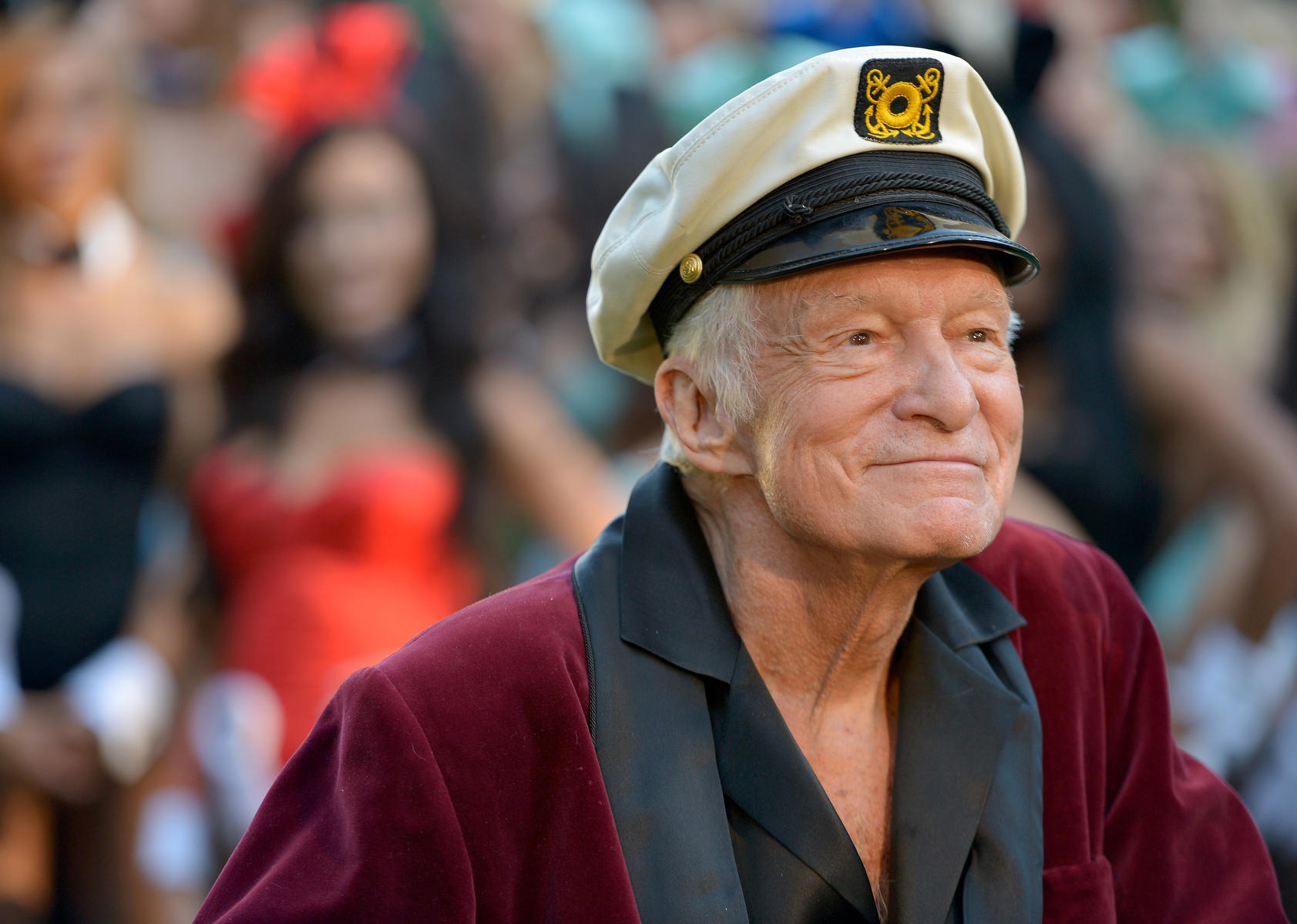 Hugh Hefner Closeup