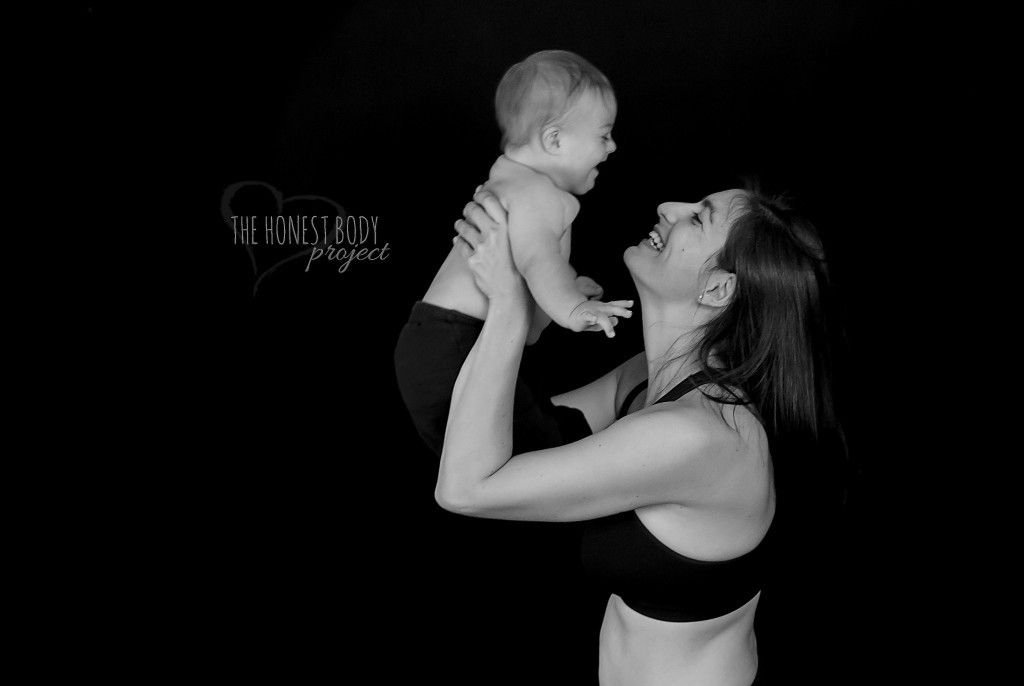 honest body project special needs photo of mom lifting baby
