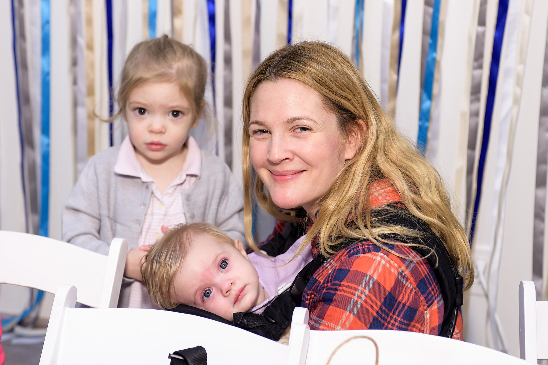 Drew Barrymore and daughters Olive and Frankie