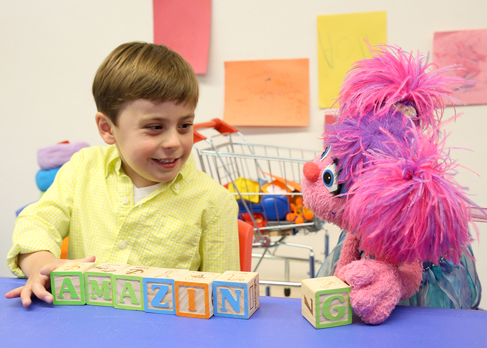 Sesame Street's Julia Muppet with autism