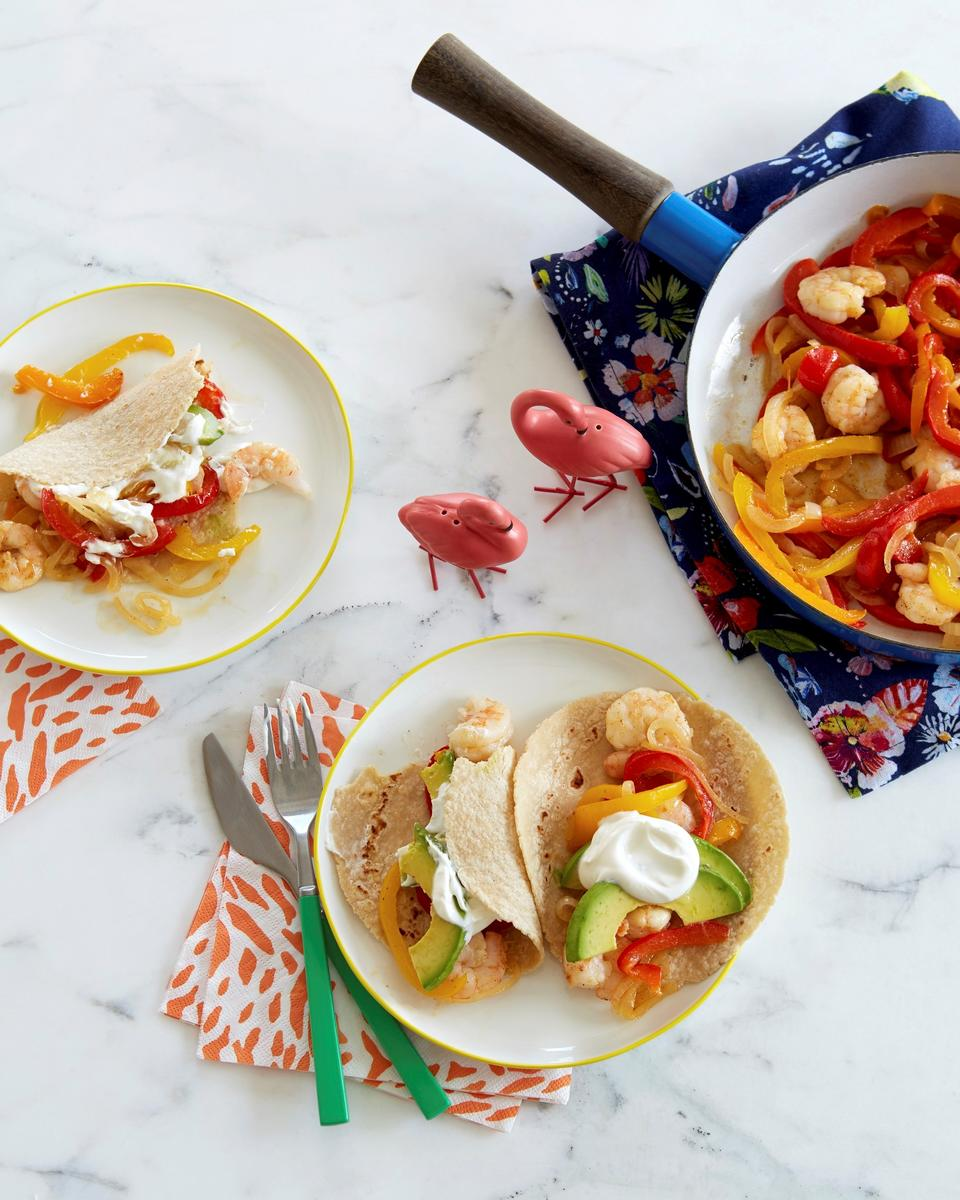 Make It Now: Shrimp and Bell Pepper Fajitas