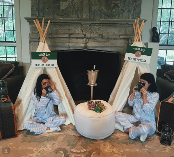 Kourtney and Kylie at Baby Shower