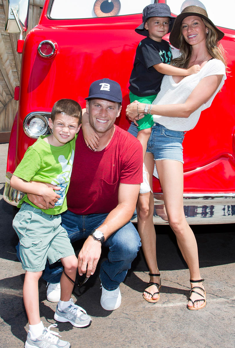 Gisele, Tom Brady, and sons at Disney