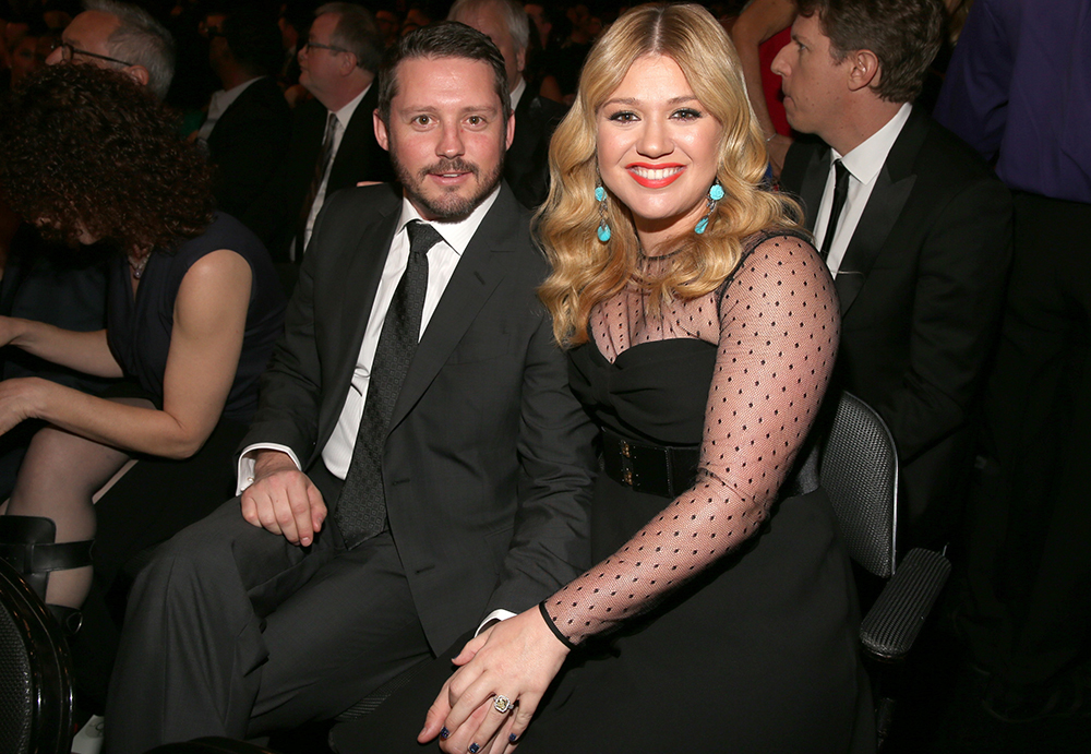 Kelly Clarkson and husband at 2013 Grammys
