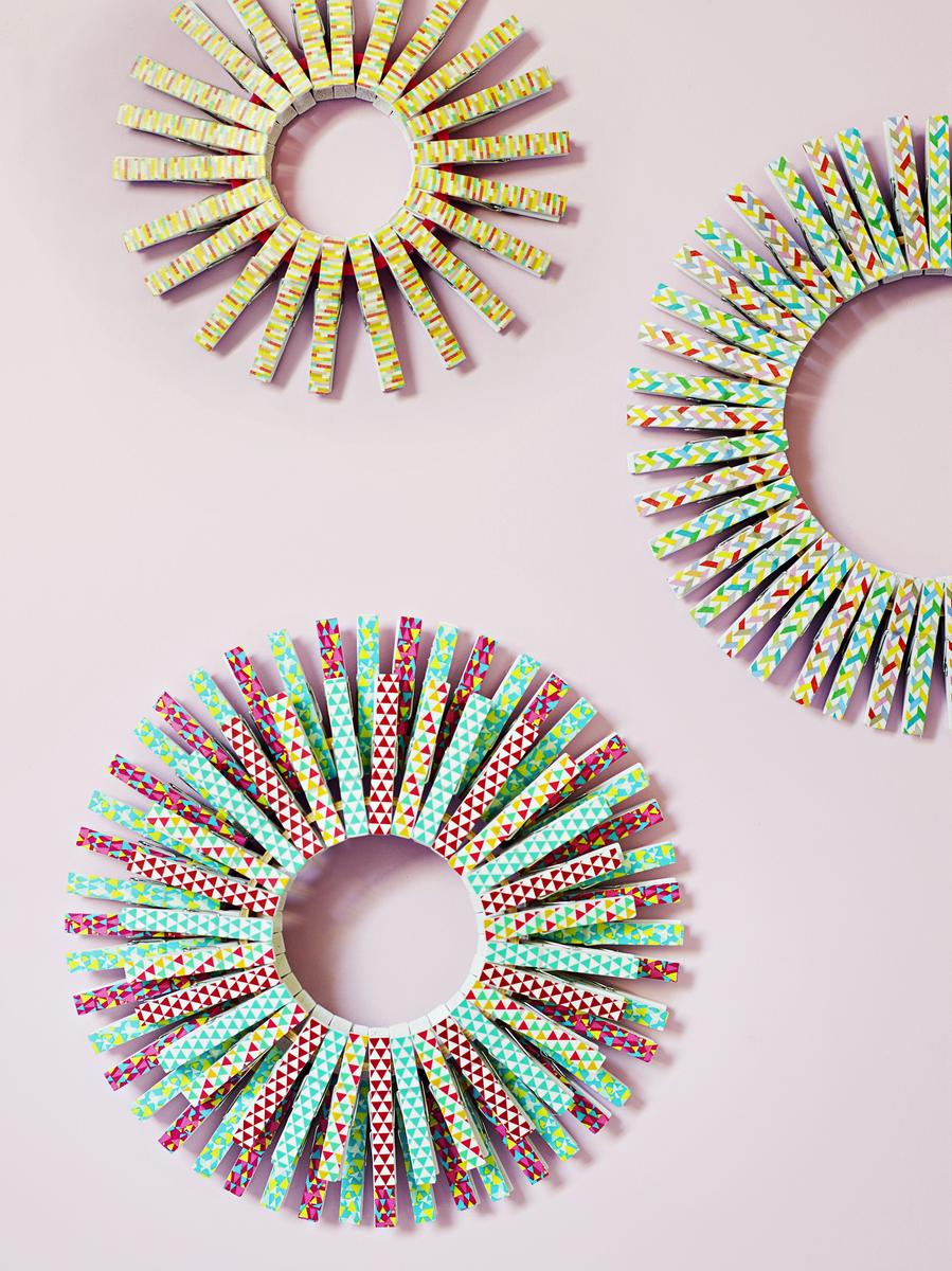 Washi Tape Festive Wreaths