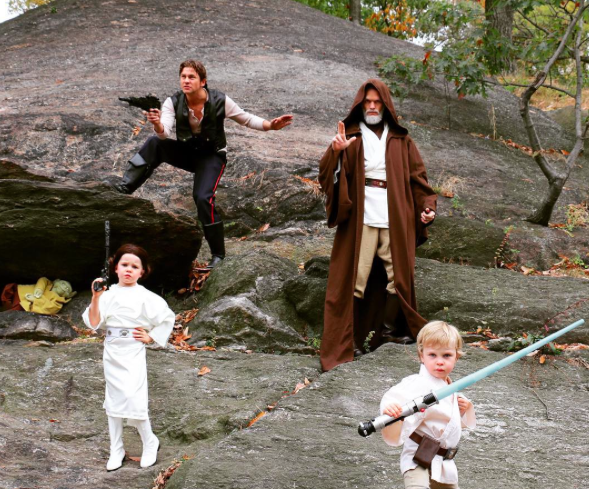 Neil Patrick Harris and family in Star Wars costumes