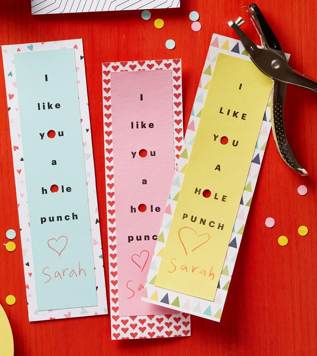 No Candy Valentine Bookmarks With Heart