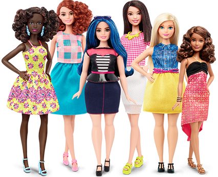 barbies with different body types