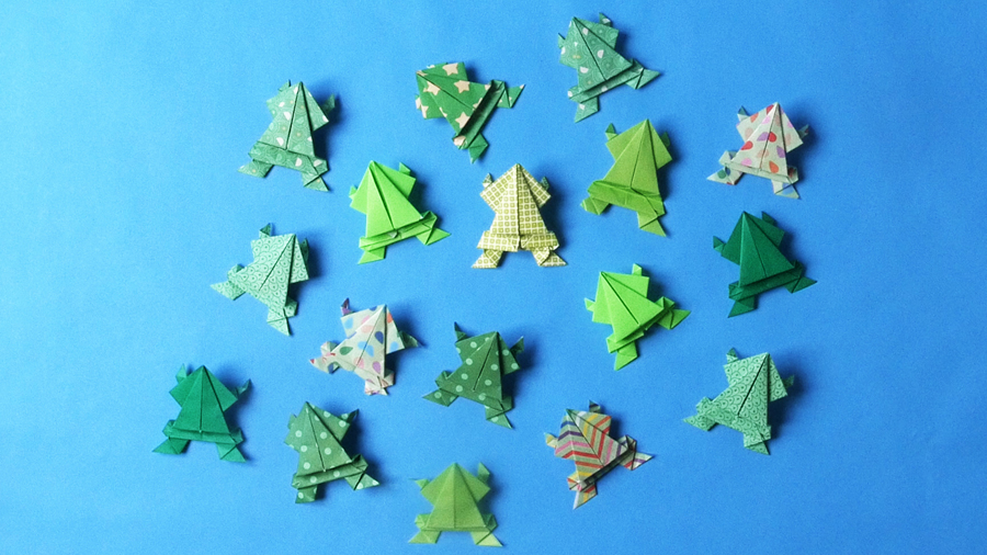 How to Make a Jumping Origami Frog