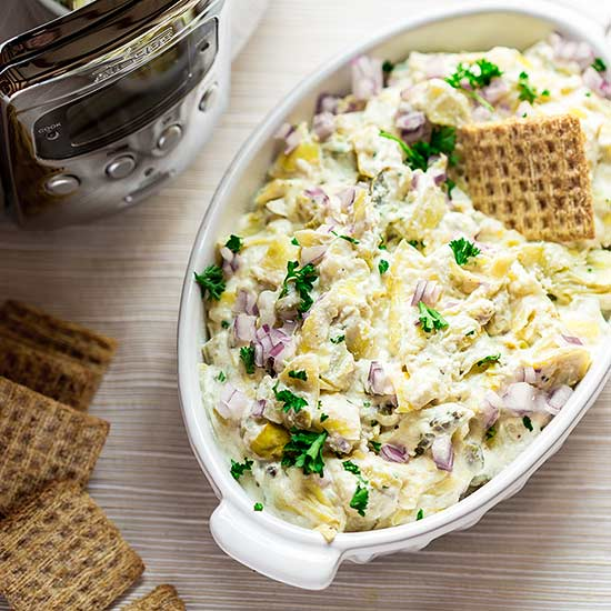Slow-Cooker Hot Artichoke Dip recipe image