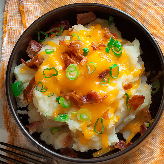 Slow-Cooker Mashed Potato Bowls