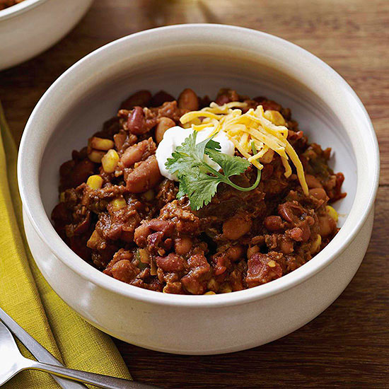 Slow-Cooker Barbecue Chili recipe image