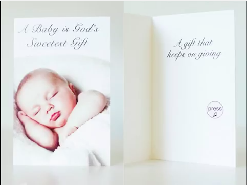 crying baby greeting card