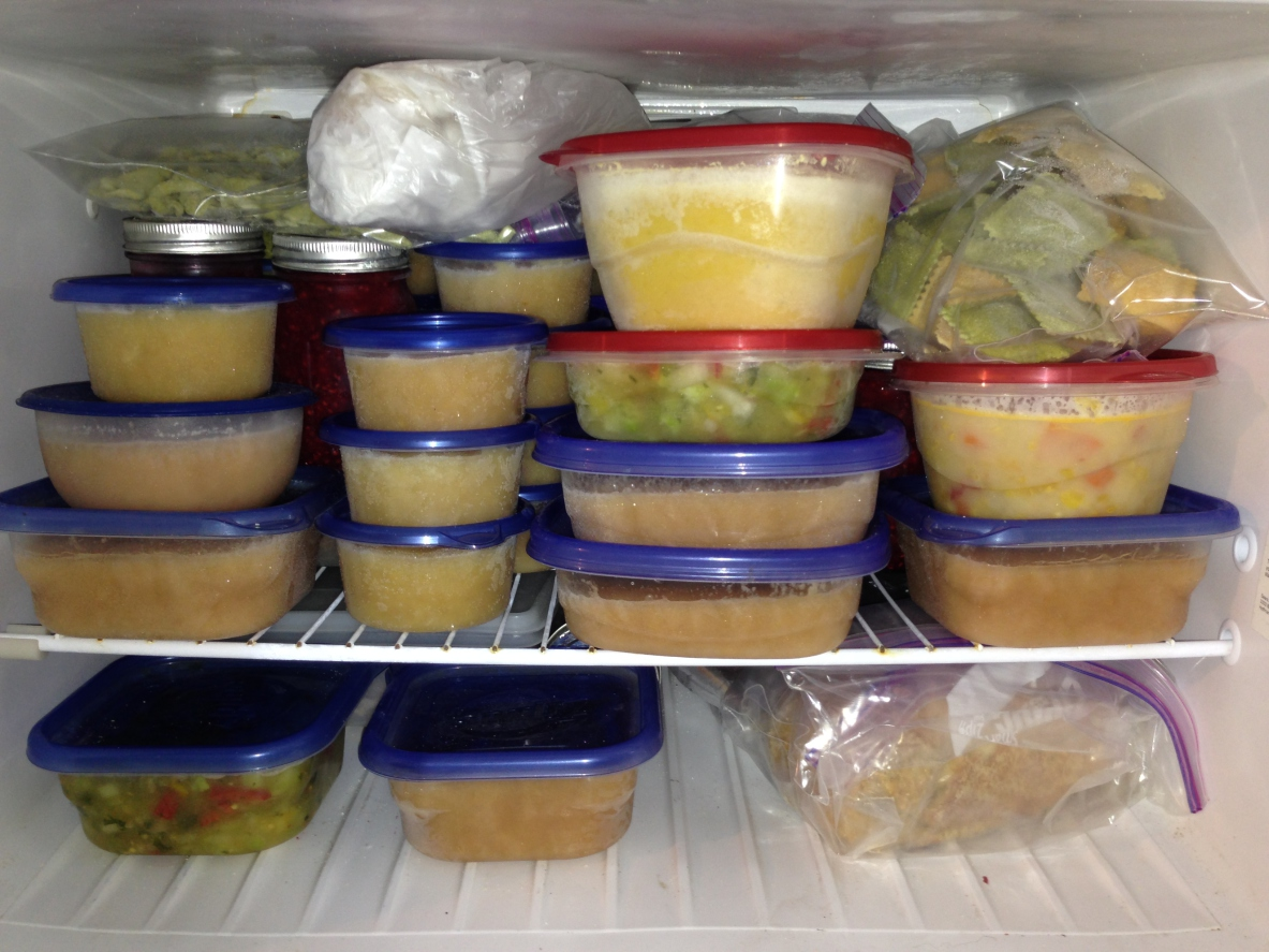 stocked freezer