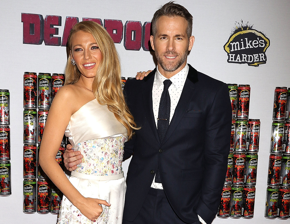Ryan Reynolds and Blake Lively at Deadpool premiere