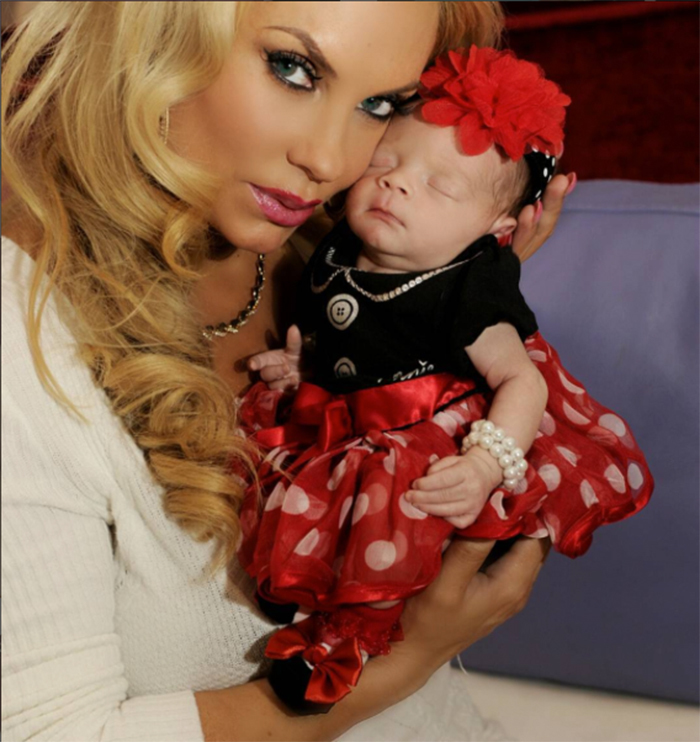 Coco Austin and baby Chanel