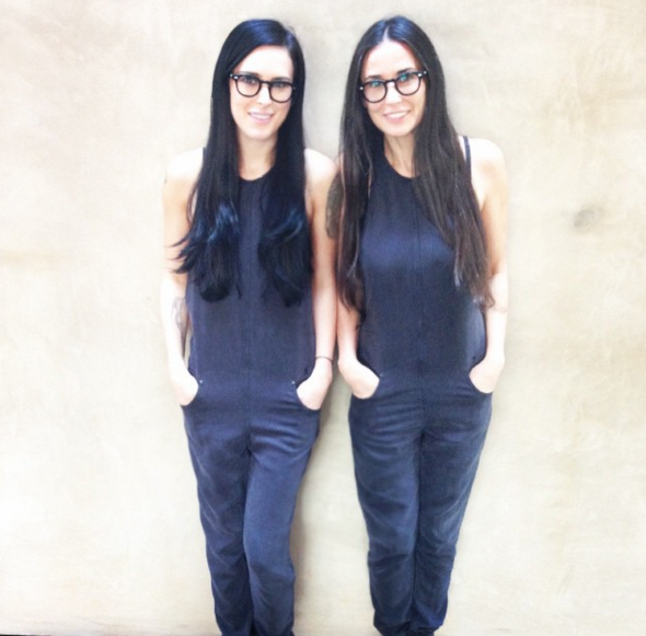 Demi Moore and Rumer Willis