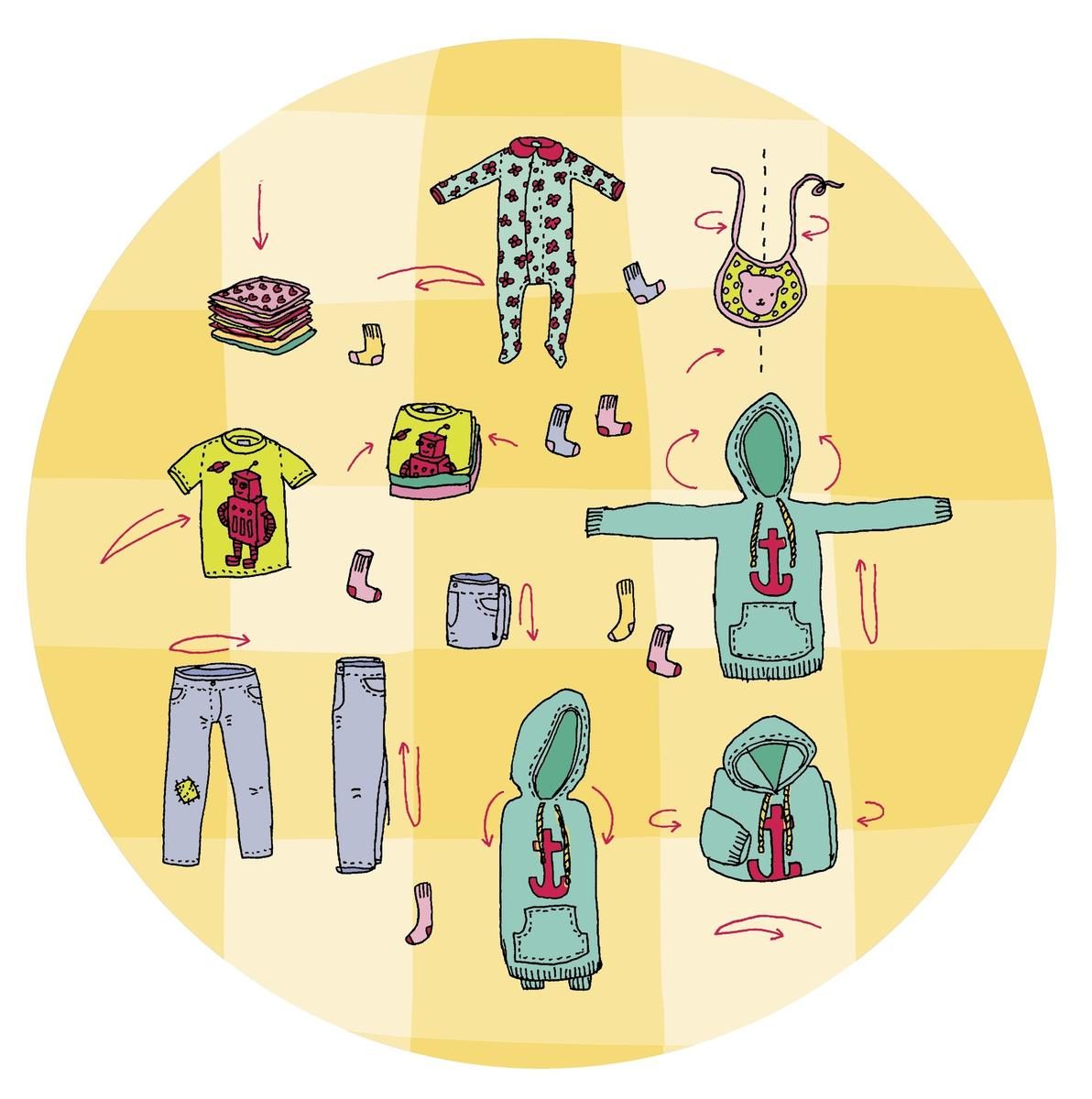 Folding Clothes IllustrationALLI ARNOLD