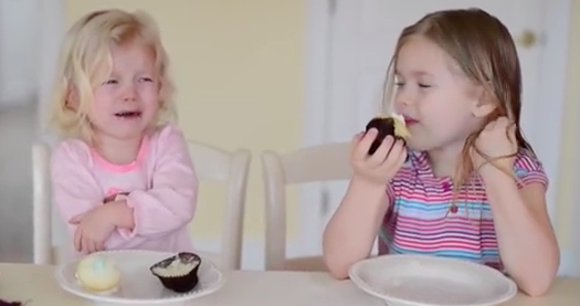 Parents' cupcake gender reveal fails when this little girl really doesn't want a baby brother.