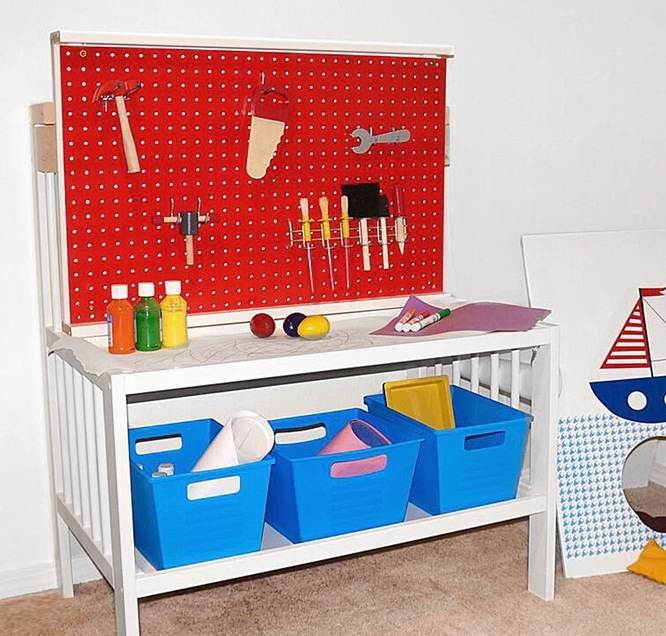 A Pretend-Play Work Table