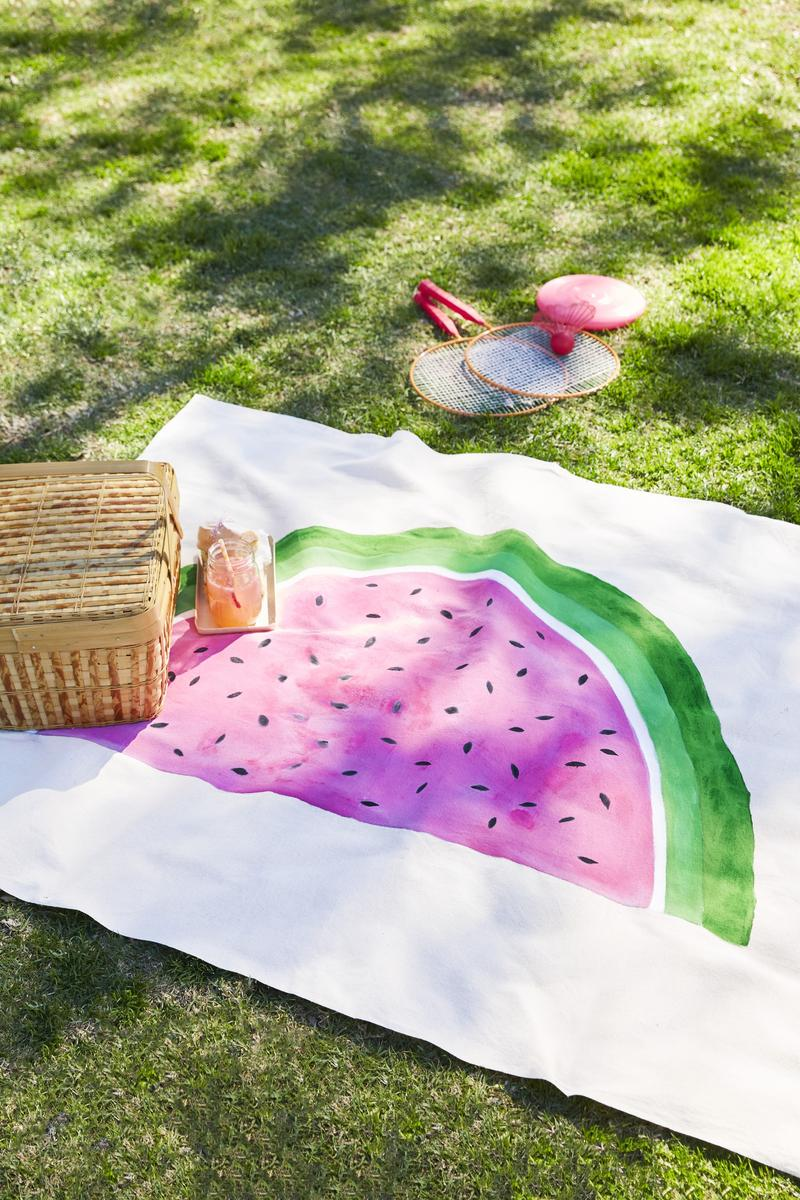 Brit's Project Pick: Drop-Cloth Picnic Blanket