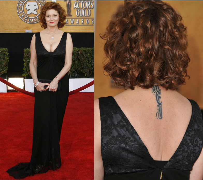 Susan Sarandon tattoo