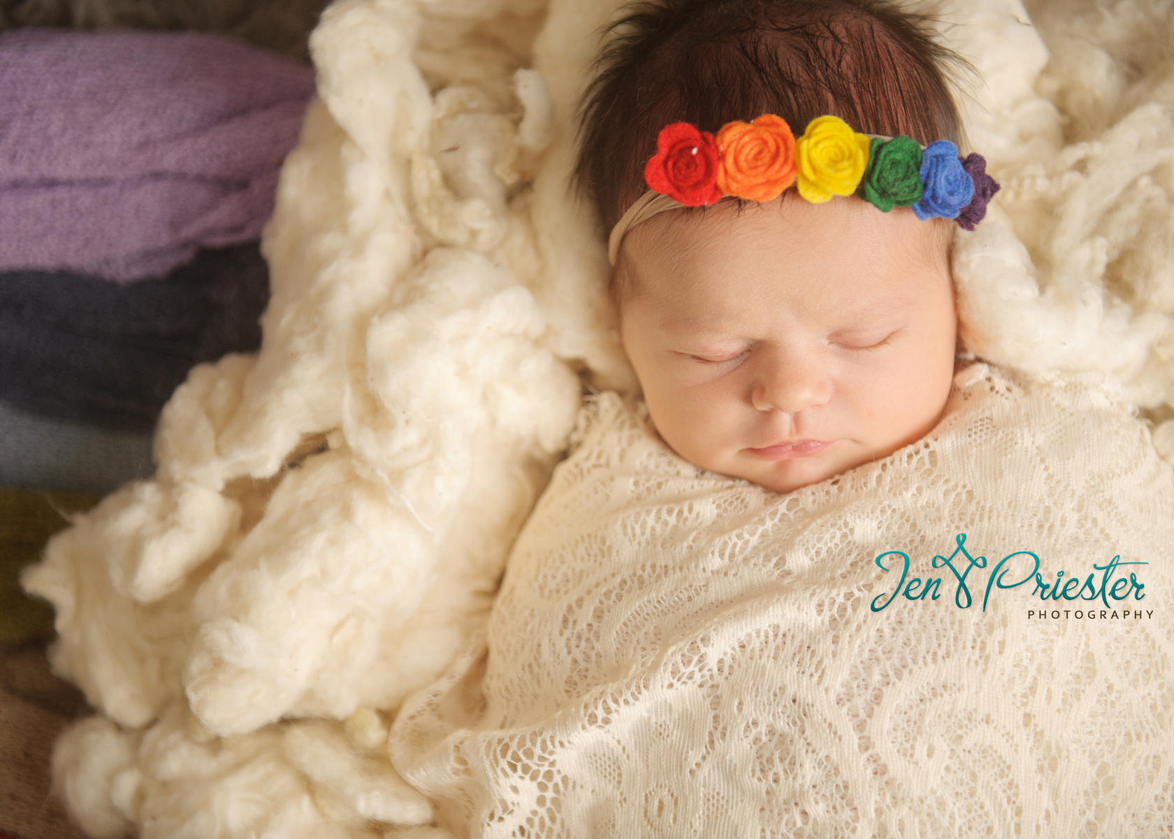 Rainbow Baby Cloud Photo by Jen Priester