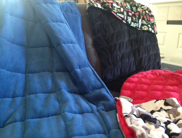 Weighted blankets and capes for therapy items for special needs kids