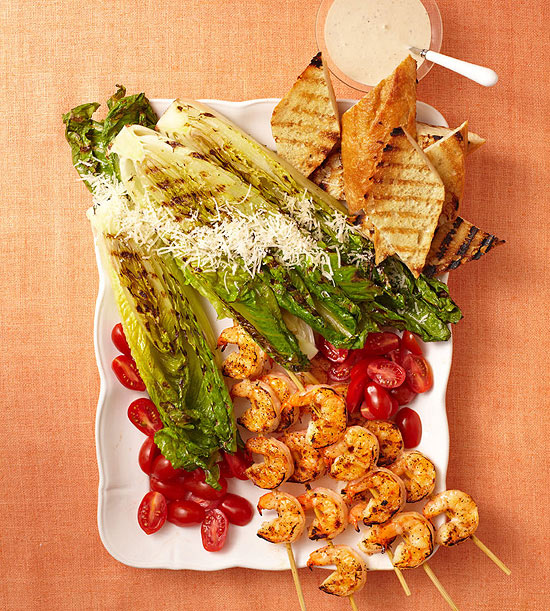 Grilled Shrimp Caesar recipe image