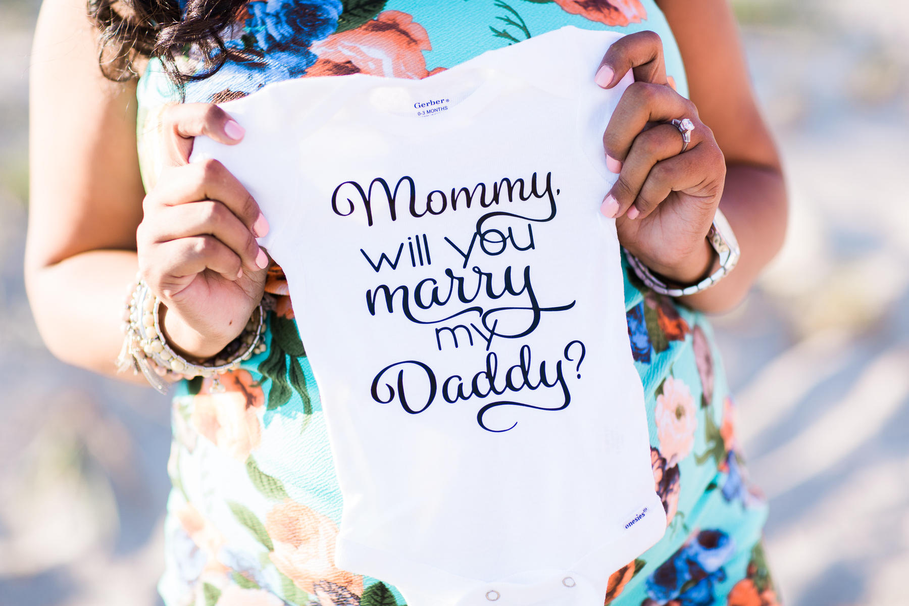 Engagement onesie